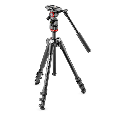 Manfrotto Befree Live Fluid Video Head with Befree Aluminum Tripod Kit - goHUNT Shop