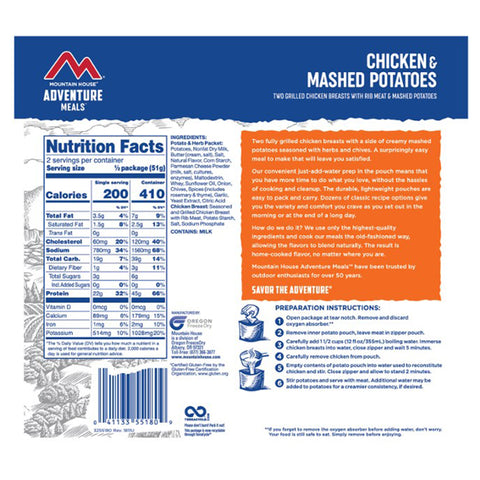 Mountain House Chicken Breast & Mashed Potatoes by Mountain House | Camping - goHUNT Shop
