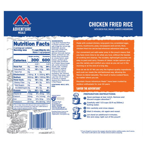 Mountain House Chicken Fried Rice with Vegetables by Mountain House | Camping - goHUNT Shop