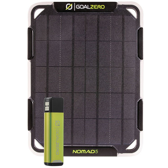 Goal Zero Nomad 5 Solar Kit by Goal Zero | Gear - goHUNT Shop
