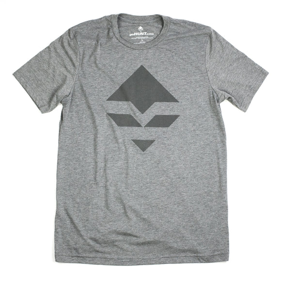 goHUNT Grey & Dark Grey T-Shirt by goHUNT | Apparel - goHUNT Shop