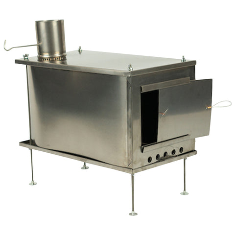 Seek Outside Large U-Turn Stove with 7.5' Pipe by Seek Outside | Camping - goHUNT Shop