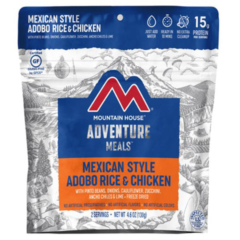 Mountain House Mexican Style Adobo Rice & Chicken by Mountain House | Camping - goHUNT Shop