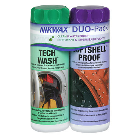 Nikwax Softshell Wash & Waterproof Duo Pack