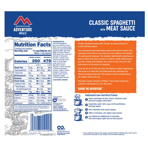Mountain House Classic Spaghetti with Meat Sauce by Mountain House | Camping - goHUNT Shop