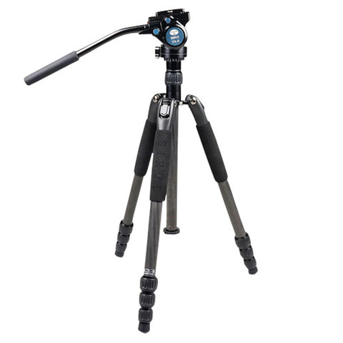 Sirui T-024SK VA-5 Fluid Head Carbon Tripod Kit by Sirui | Optics - goHUNT Shop