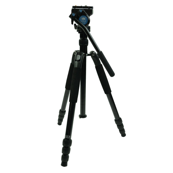 Sirui T-004SK VA-5 Fluid Head Aluminum Tripod Kit by Sirui | Optics - goHUNT Shop