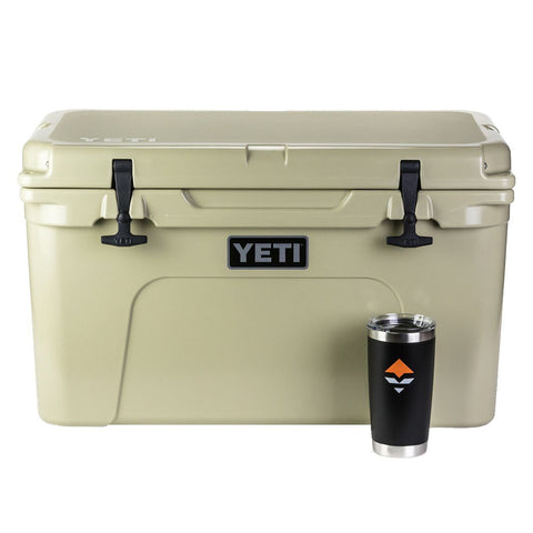 YETI Tundra 45 Tan Cooler & Free goHUNT Rambler (New Lower Price)