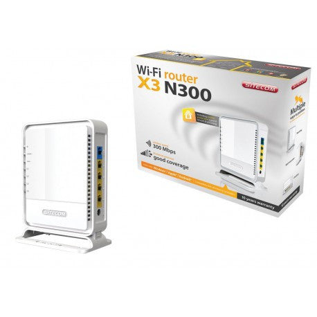 Sitecom Wireless Router N300 X3 - X-Series 2.0 - Including Sitecom Cloud Security, Bianco