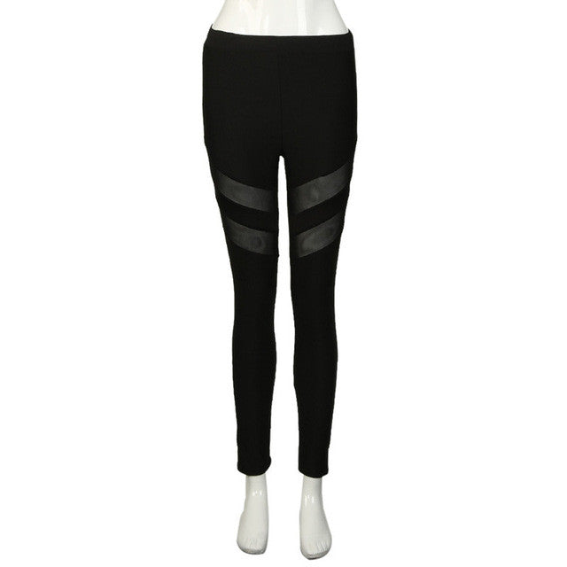 2017 Women Fitness Leggings High Waist Sexy Stretchy Patchwork Skinny Push Up Pants Legins Calzas Deportivas Mujer Fitness Pants
