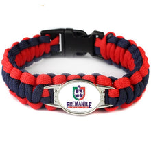 AFL Fans Survival Paracord Bracelet Australia Port Adelaide Power Football Charm Outdoor Rescue Bracelets For Outdoor HikinG