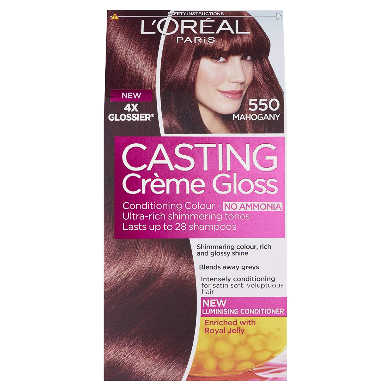 Loral Casting Creme Gloss Hair Colour Mahogany Number 550 Pack