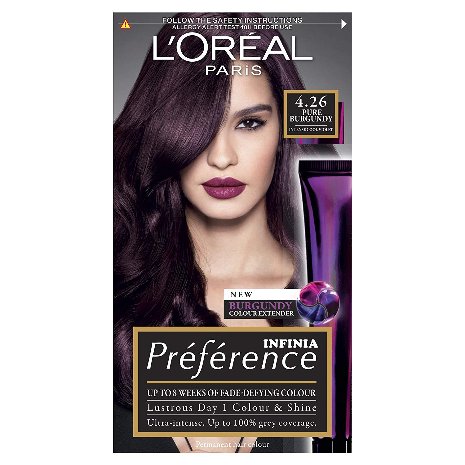 Loral Preference Infinia 426 Pure Burgundy Hair Dye Home