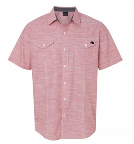 Red Short Sleeve Button Down