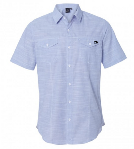 Blue Short Sleeve Button Down