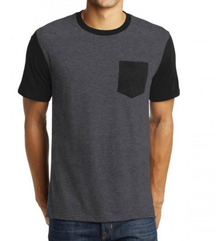 Black/Gray Pocket Tee