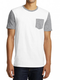 White/Gray Pocket Tee