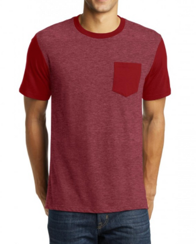 Red/Heather Red Pocket Tee
