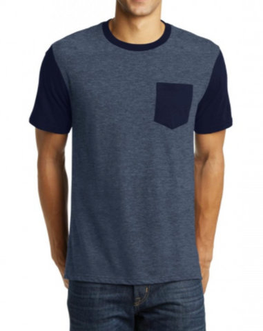 Navy/Heather Navy Pocket Tee