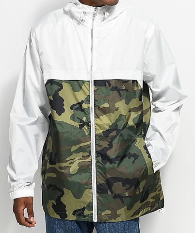 White/Camo Windbreaker