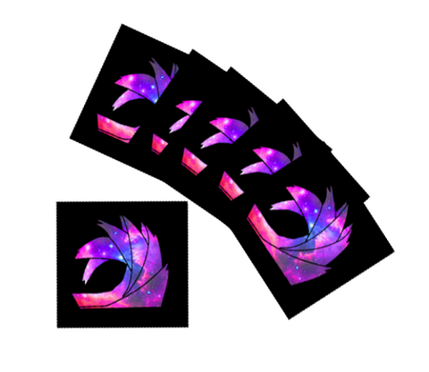 Add 20 SQUARE Galaxy Stickers