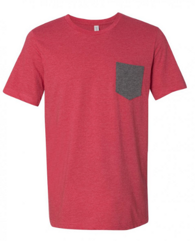 Red/Gray Pocket Tee