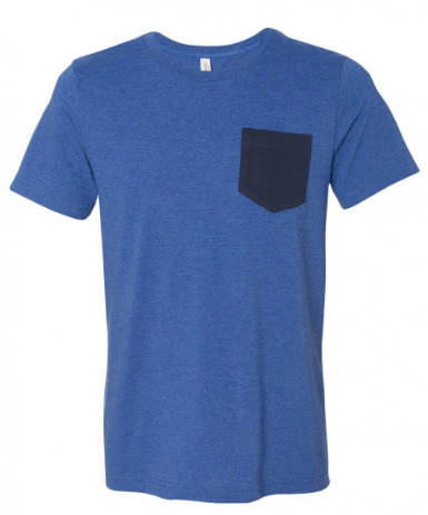 Blue/Gray Pocket Tee
