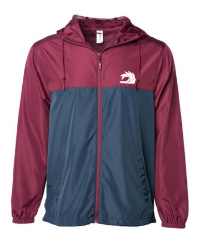 Maroon/Navy Windbreaker