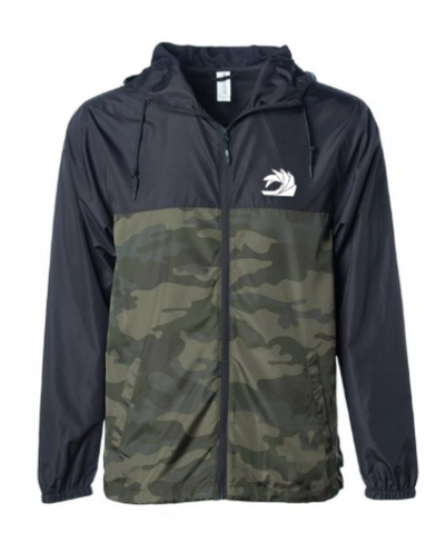 Camo/Navy Windbreaker