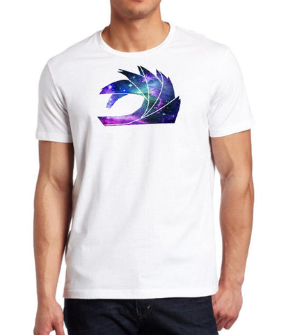 Add White Galaxy Tee