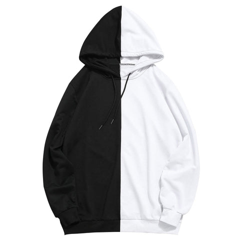 Add Black Split Hoodie