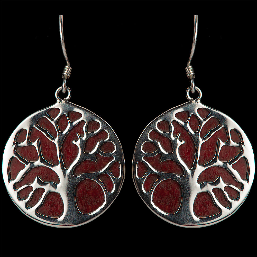 Tree of Life Coral Earrings