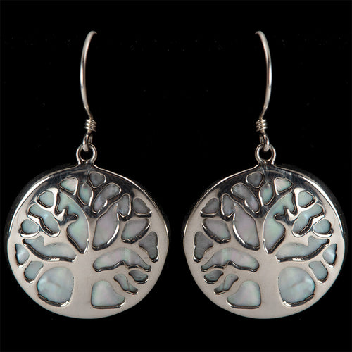 Tree of Life Mother of Pearl Earrings