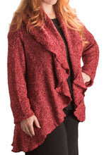 Boucle Shawl Collar Cardigan