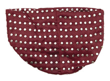 Suedecloth Studded Purse