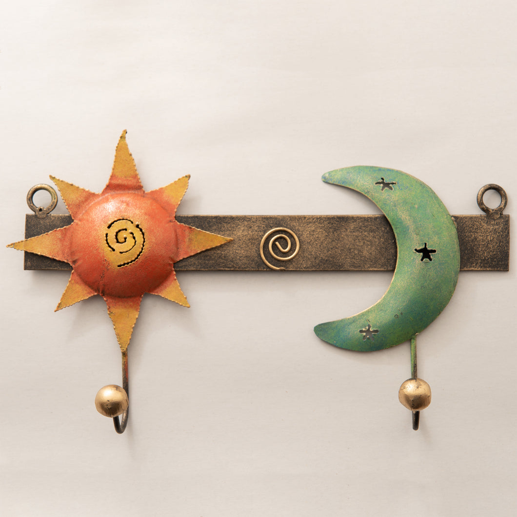 Brass Painted Wall Hooks - Double