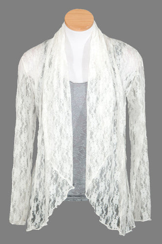 Lace Shawl Collar Cardigan