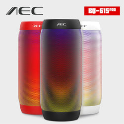 Portable Bluetooth Speaker AEC Colorful LED Lights Waterproof Wireless Super Bass Mini Speaker Lights FM Electronics