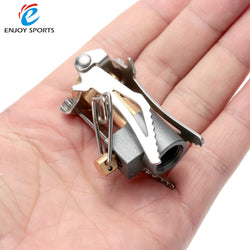 Portable Folding Mini Camping Stove Outdoor Gas Stove Survival Furnace Stove 45g Pocket Picnic Cooking Gas Burner