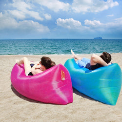 Air Couch Portable Inflatable Air Sofa Bed Lazy Bones Beach Lounge Foldable Camping Fast Sleeping Bed Airbags Lazy Sofa