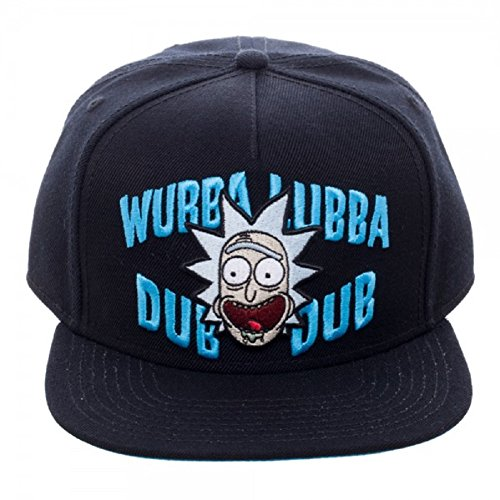 Rick And Morty Wubba Lubba Dub Dub Adult Black Snapback Cap Hat