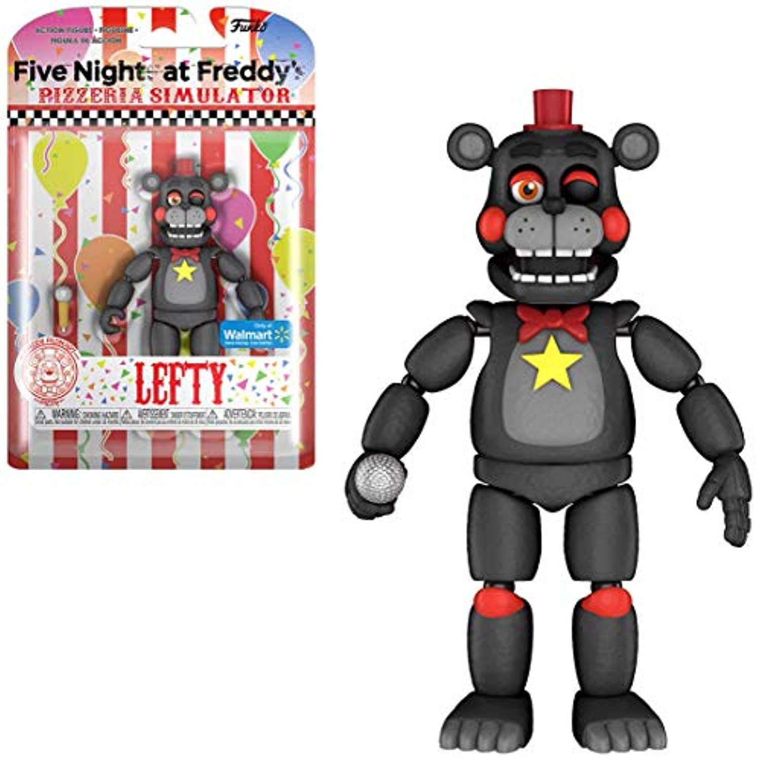 Five Nights at Freddy's Pizza Simulator - FNAF Lefty Figure - Exclusive