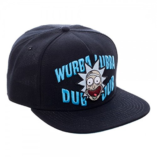 Rick And Morty Wubba Lubba Dub Dub Adult Black Snapback Cap