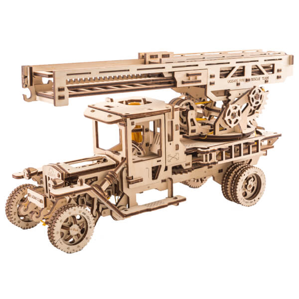 UGears Fire Truck With Ladder 3D Puzzle 502248
