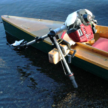 Aqua Bug™ 4 Stroke Outboard Motor Mounted on a Conoe
