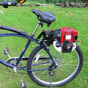 4 Cycle Bike Motor by Bike Bug® Left Side View