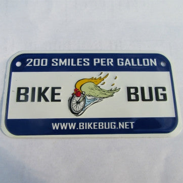 "Novelty Bike Bug® ""Flying Wheel"" Logo Miniature License Plate"