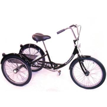 Black Husky® Industrial Tricycle with Rear Basket