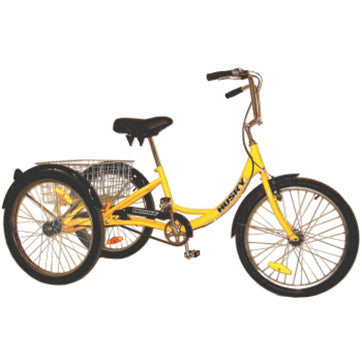 "Yellow Husky® 24"" Industrial Tricycle with Rear Basket"
