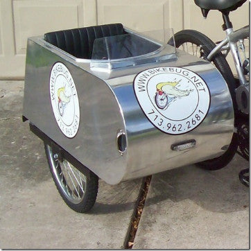 Custom Handmade Aluminum Sidecar for Bicycles